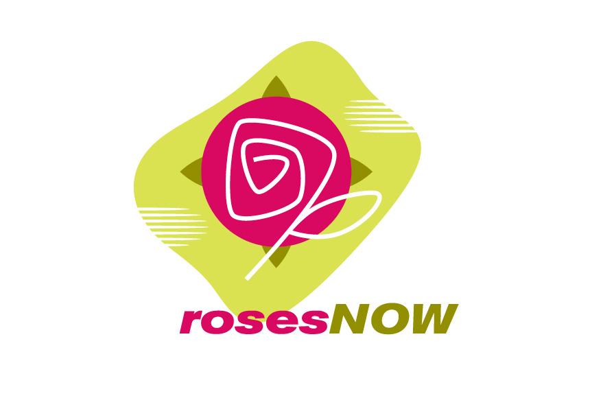 Mightyworld Roses Now logo branding design