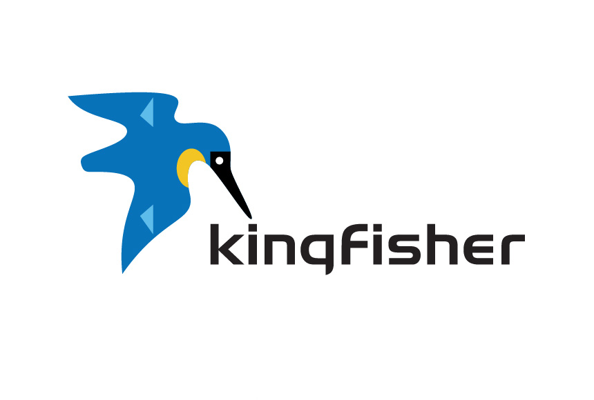 Mightyworld Kingfisher logo branding design