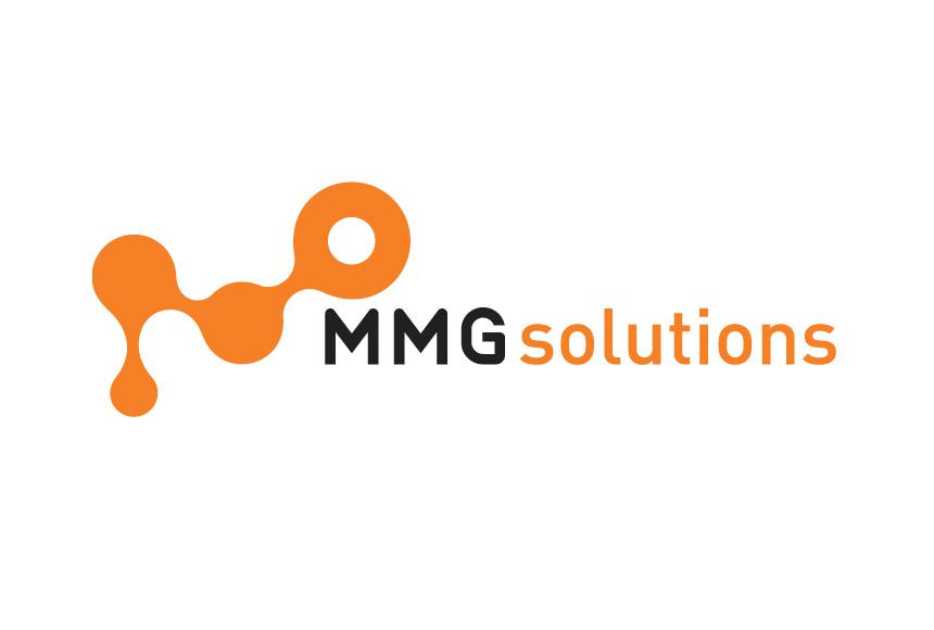Mightyworld MMG solutions logo branding design