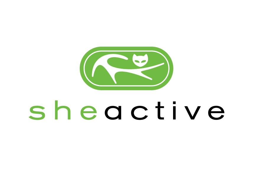 Mightyworld sheactive logo branding design