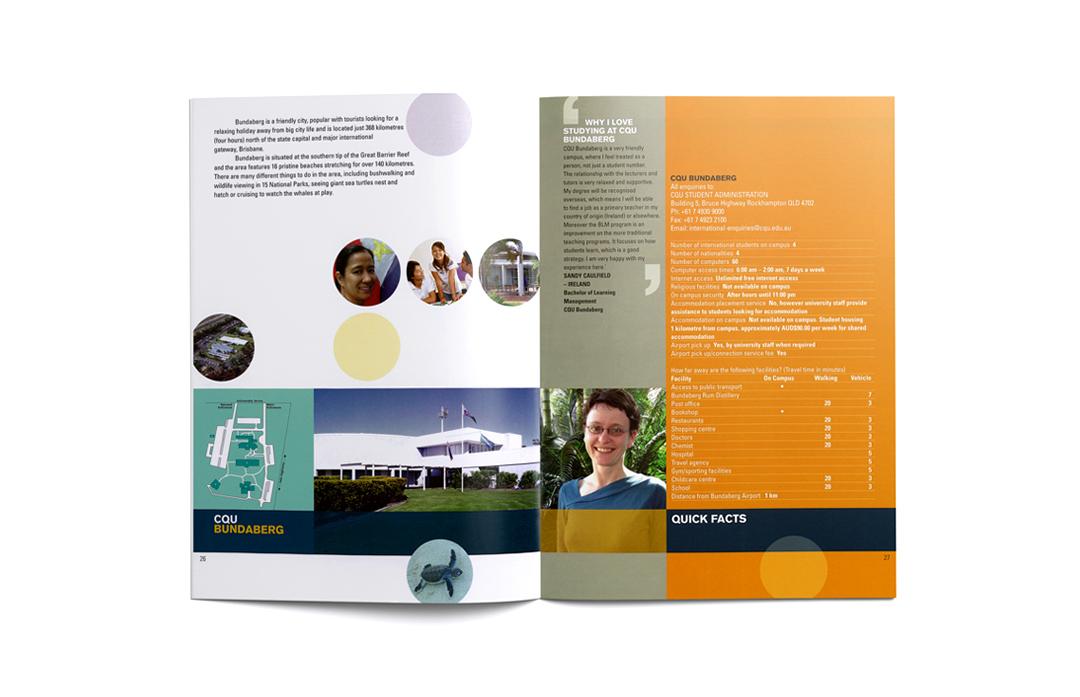 Mightyworld CQU brochure print design