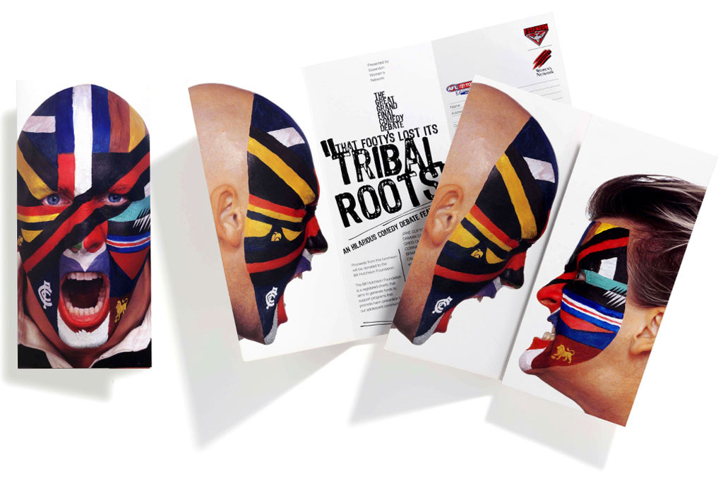 Mightyworld Essendon Tribal Roots print brochure design