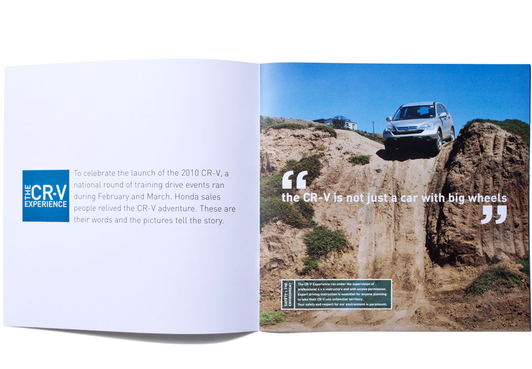 Mightyworld Honda CRV experience brochure print design