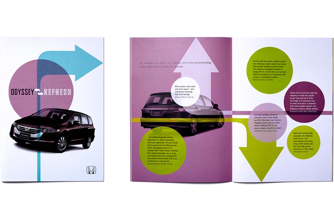 Mightyworld Honda Refresh brochure print design