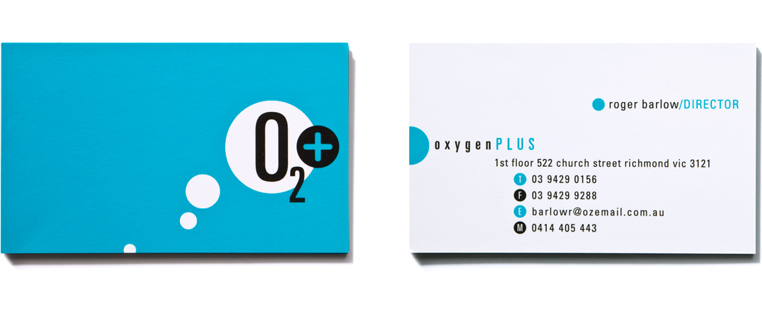 Mightyworld Oxygen Plus business card branding design