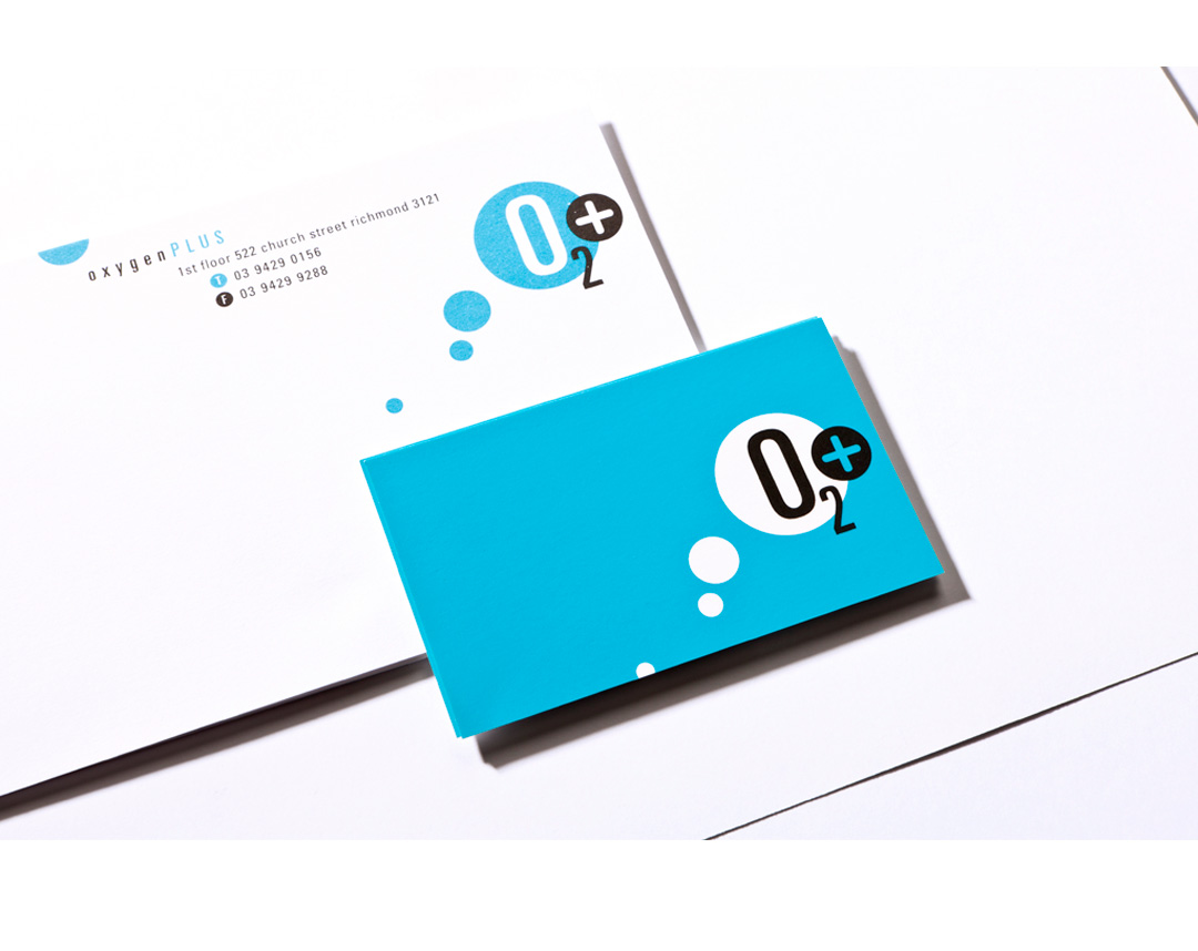 Mightyworld Oxygen Plus stationary print branding design