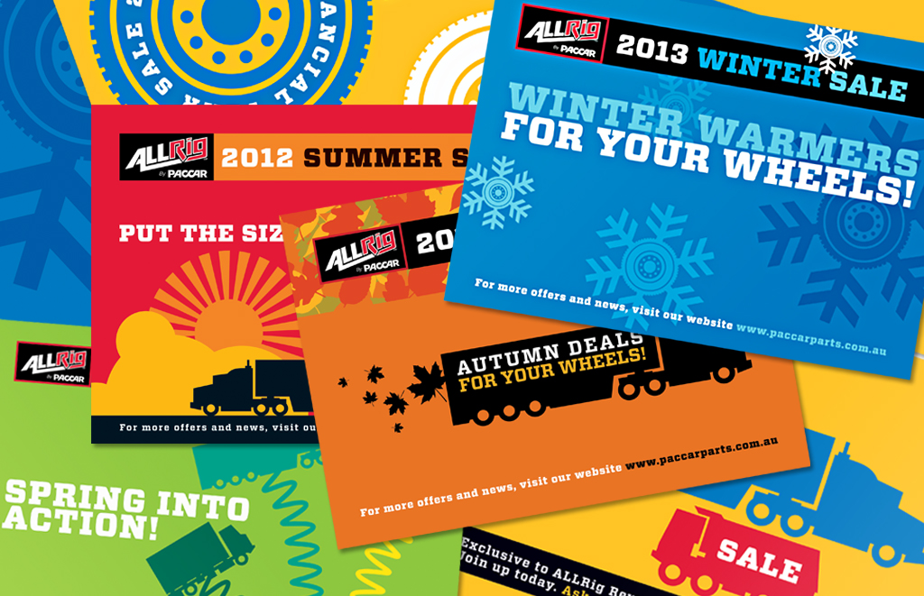Mightyworld Allrig seasonal poster print design