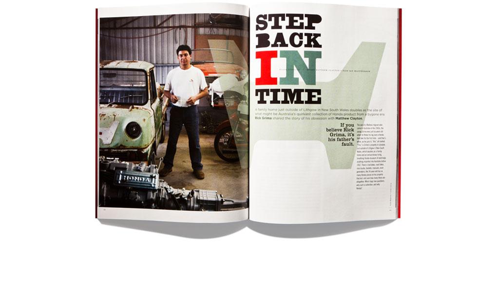 Mightyworld Honda Magazine print design