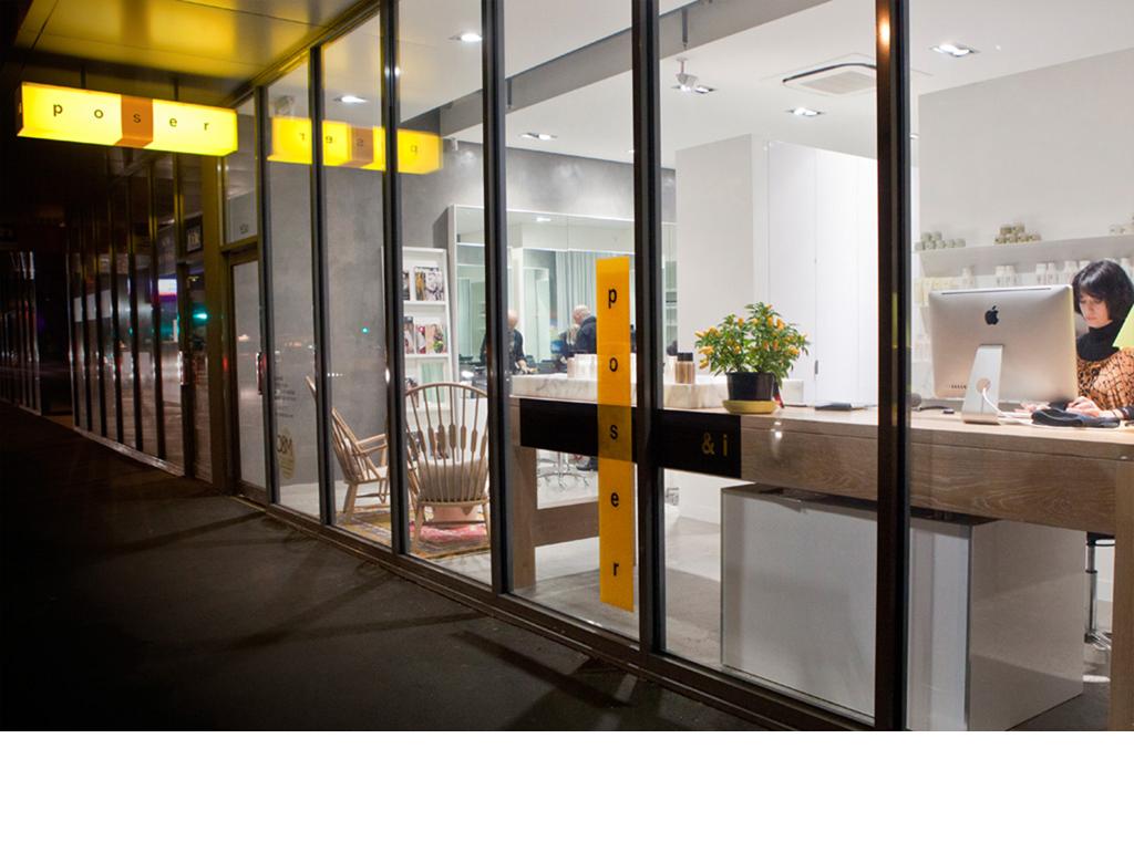 Mightyworld Poser & I branding instore design
