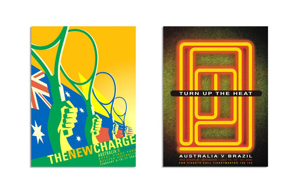 Mightyworld Tennis Australia event poster print design