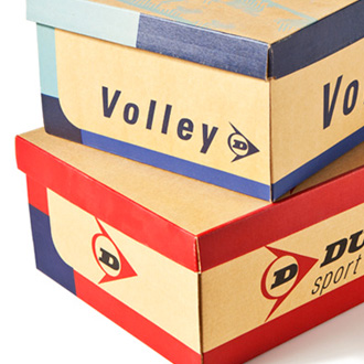 Mightyworld Dunlop Sport Volley packaging design