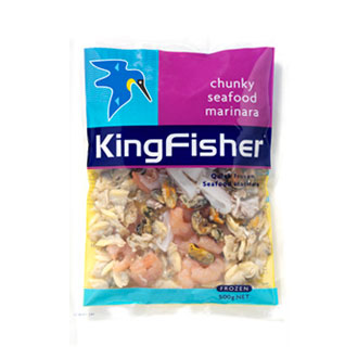 Mightyworld Kingfisher seafood packaging design