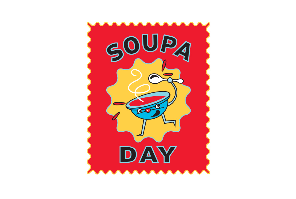 MightyWorld Soupa Day logo design